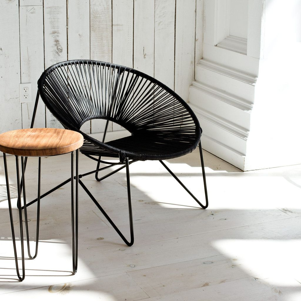 Acapulco Chair Aldama Chair Black And Black Acapulco Chair Mexican