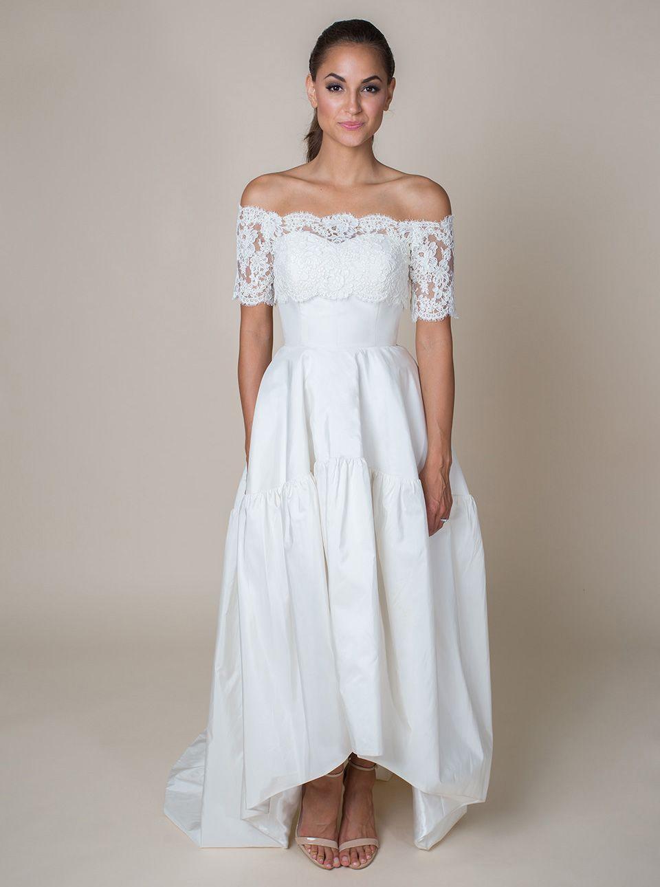 crop top wedding dress Katrina Arnold Chloe Crop Top Classic and feminine the Chloe Crop Top