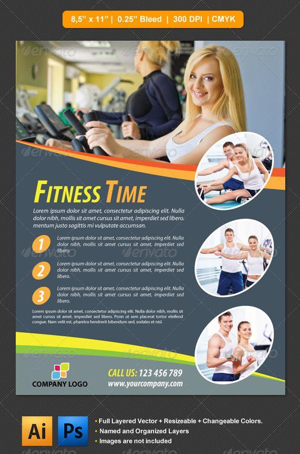 Fitness Flyer Flyer template, Print templates and Flyer printing - fitness flyer