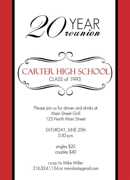 Class Reunion Invitation-Large Postcard Mailer-Chevron-Tear Off - class reunion invitation template