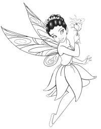 Disegno: La Fatina dei Fiori. Disegni da colorare e ...