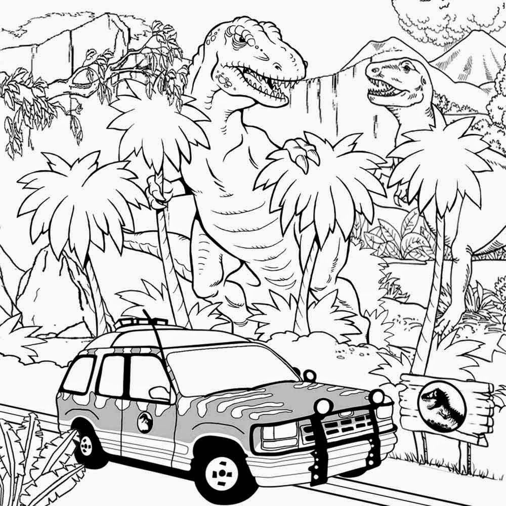 Free coloring pages landscapes - Gallery Of Free Coloring Pages Jurassic Park