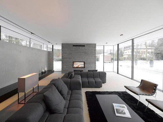 Moderne Wohnzimmer Mit Kachelofen. Beste Modernes Wohnzimmer Klein