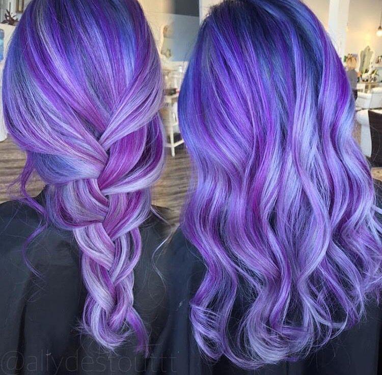 purple blue hair color appreciated by www