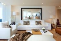 Mirror behind sofa, large and simple | Inspiration for new ...