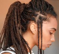 Box Braids Curly Hairstyles   Fade Haircut