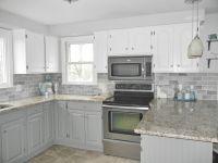 Our Oak Kitchen Makeover | Gray subway tiles, White ...