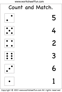 Numbers  Count and Match / FREE Printable Worksheets