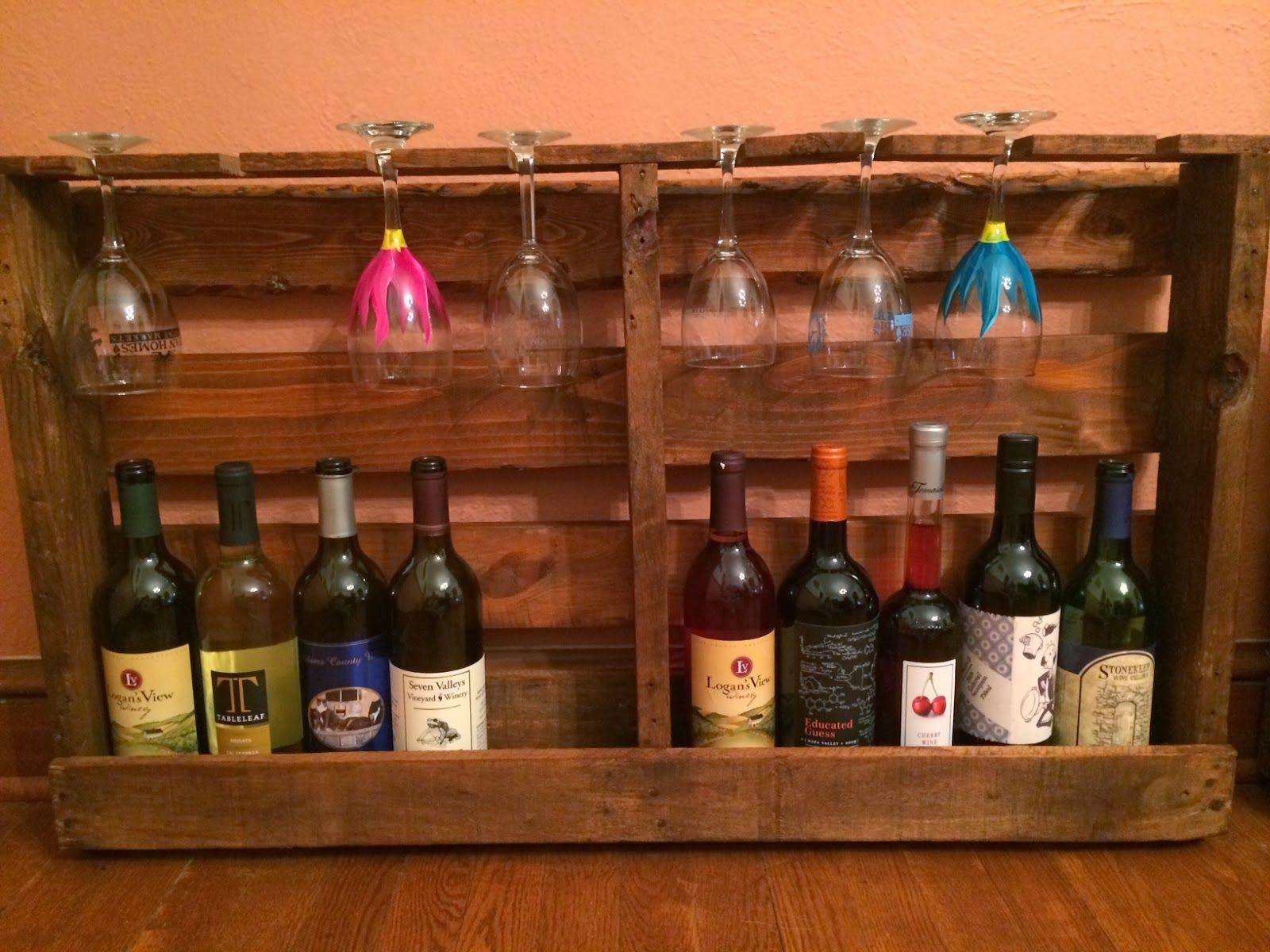 diy pallet wine bottle holder