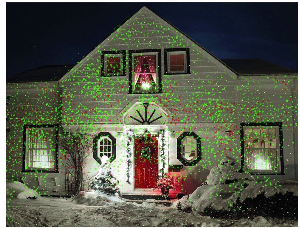 Christmas Laser Light Outdoor House Holiday Projector Landscape - christmas decoration projector