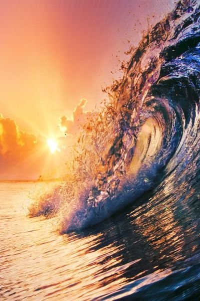 Surging Wave Under Sunrise #iPhone 4s #Wallpaper | iPhone 4(s) Wallpapers | Pinterest | Iphone ...