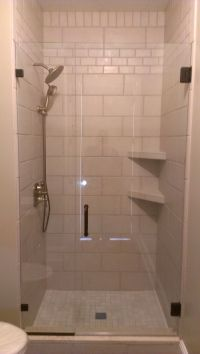 Tile Shower Tile Shower With Corner Shelves And Inlays #18 ...