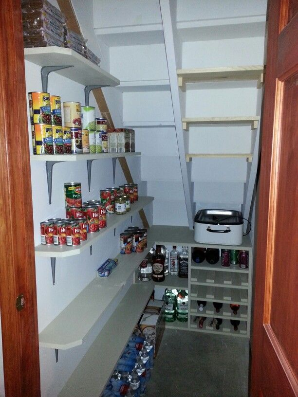 Furniture, Small And Simple Wine And Pantry Storage Design Under - under stairs kitchen storage