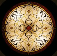 Islamic and Arabian style, stained glass wall lamp, glass ...