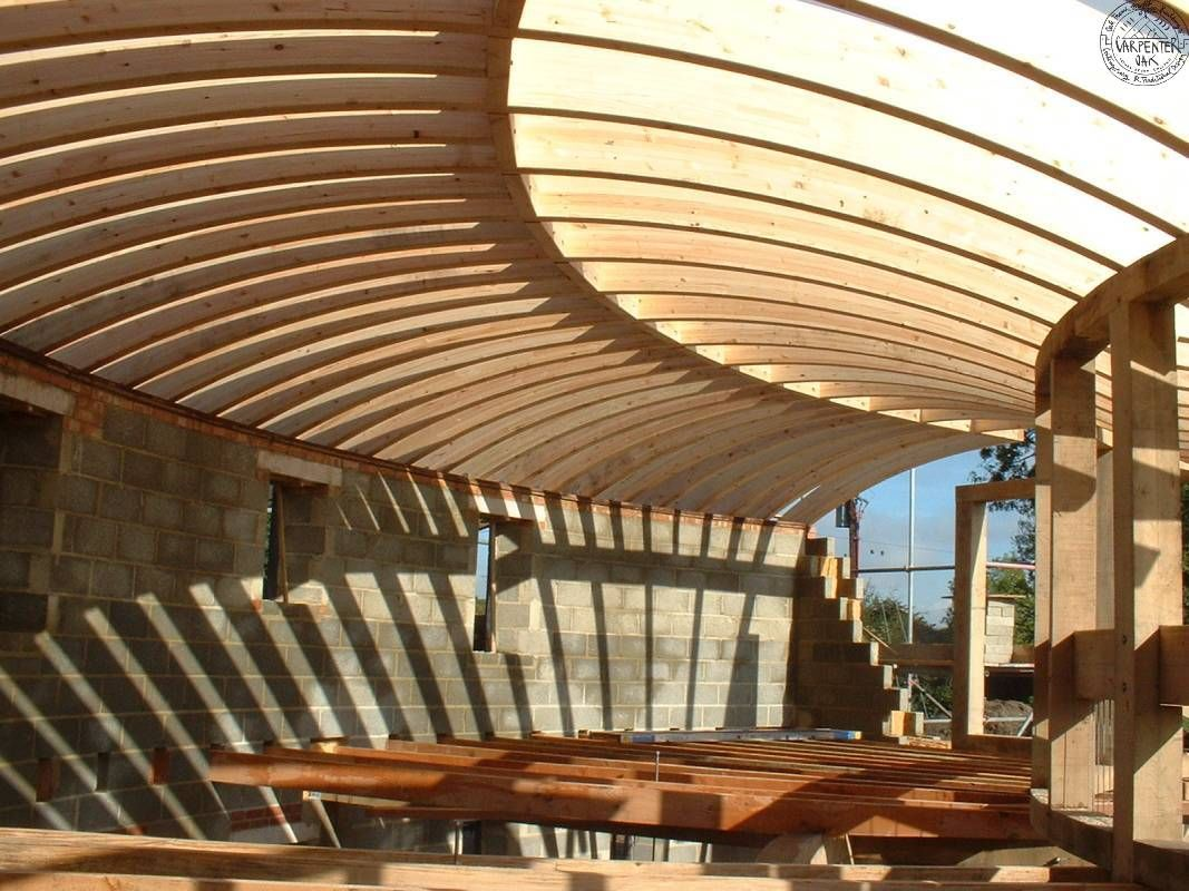 Pavillon Curve Curved Glulam Roof | Round & Octagon Barns Or House