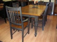 country+kitchen+tables | table, solid oak table and chairs ...