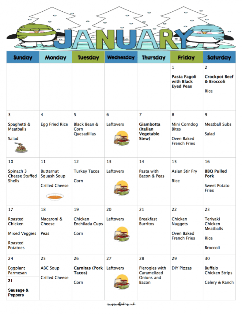 A meal plan to save you money on groceries in the new year 31 days printable budgetfree