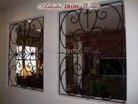 wrought iron window guards. a possibility for the stair ...