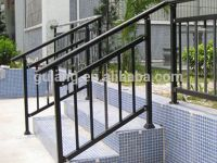 Outdoor metal stair railing or removable aluminum / steel ...