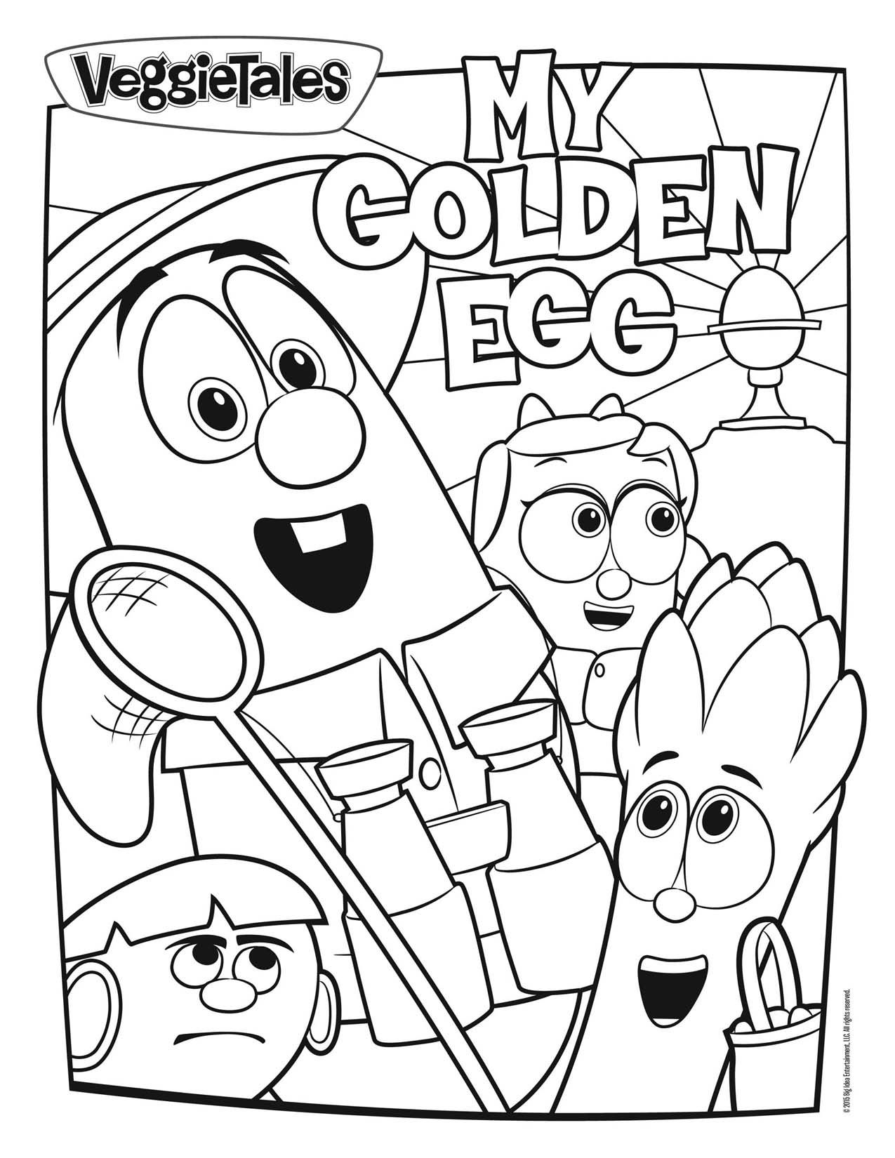 Printable coloring pages veggie tales - Coloring Pages Veggie Tales
