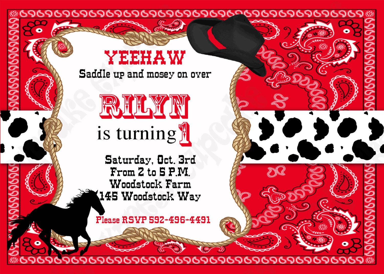 Amazing Cowboy Invitations Cowboy Light Blue Party Invitations ...