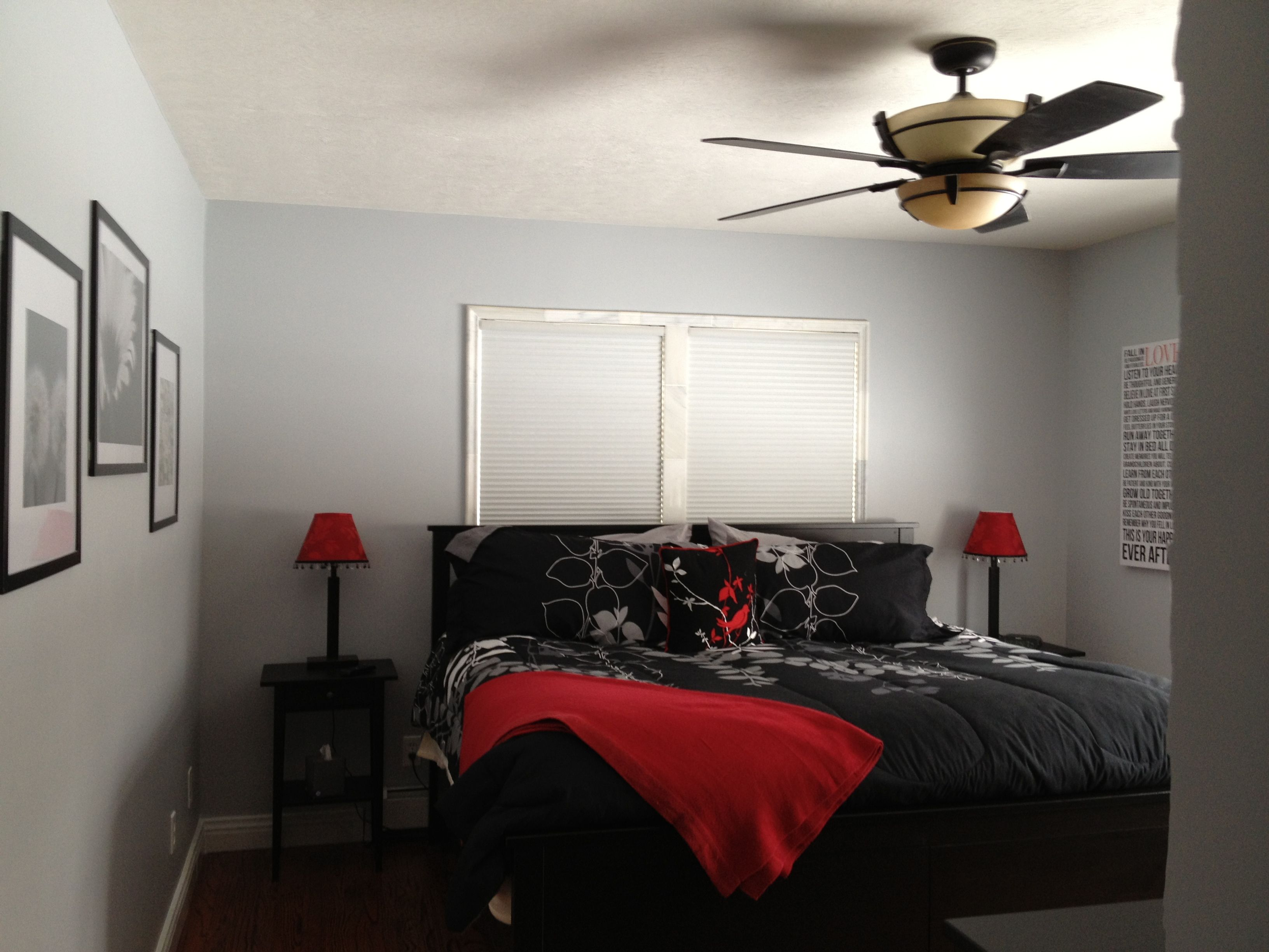 Red Black And Grey Bedrooms Grey White Black And Red Master Bedroom Love It