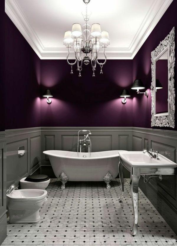 dunkle farbgestaltung badezimmer purpur trendfarben Badezimmer - badezimmer farbgestaltung