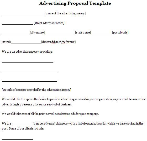 Advertising Proposal Template Sample Proposals Pinterest - advertising proposal template