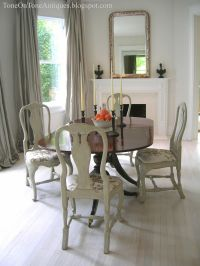 Tone on Tone: Duncan Phyfe dining table with painted Queen ...