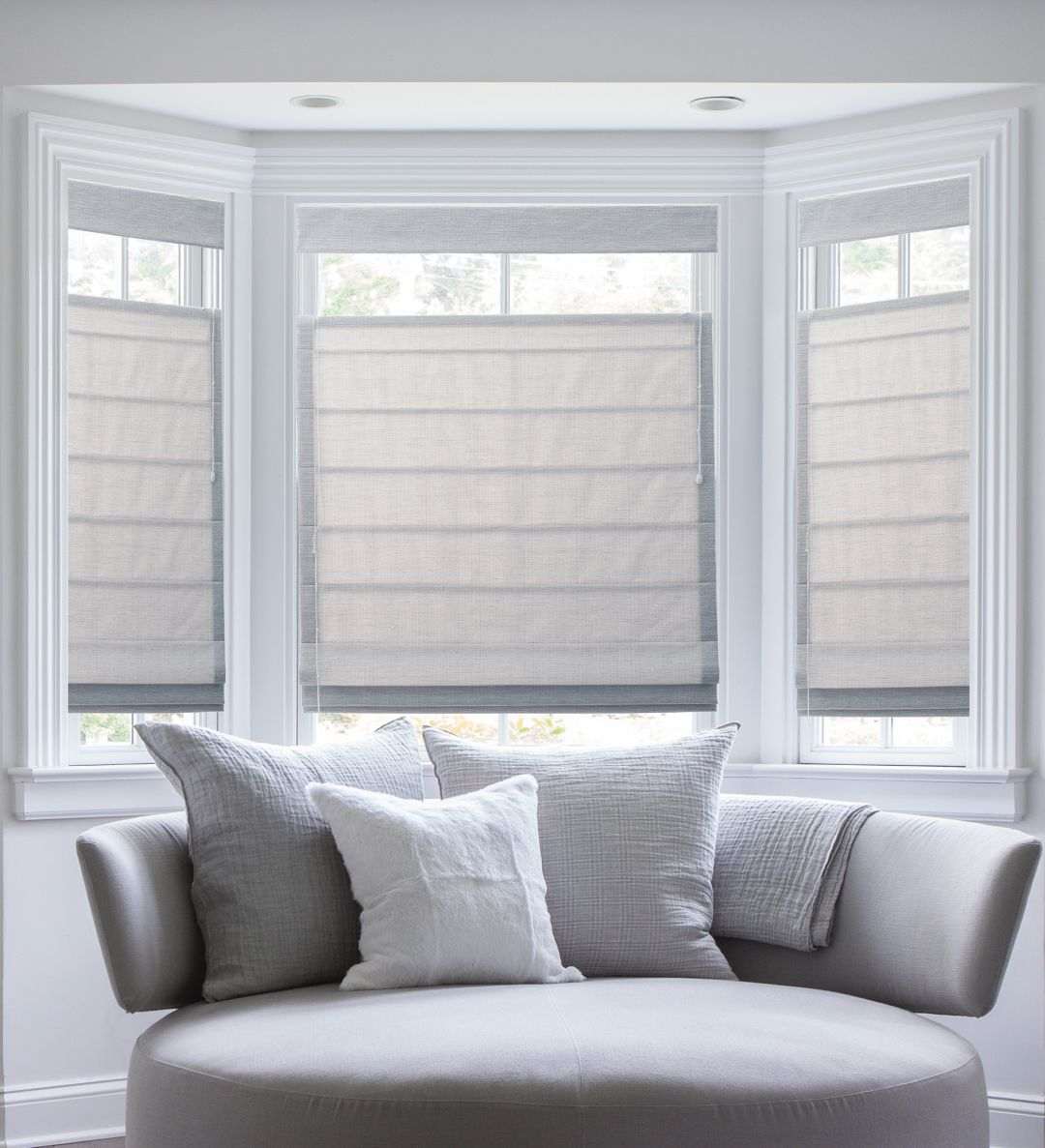 Diy Roman Shades For French Doors Top Down Bottom Up Plain Classic Pleated Roman Shades In