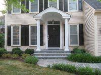 front door portico designs   ... portico, extra wide front ...