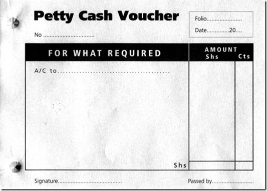 petty cash template word