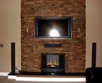 stacked slate fireplaces | ... hearth and a stacked slate ...