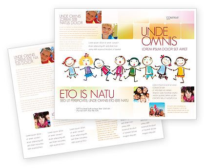 preschool flyers design Funny Kids Brochure Template #07045 - free pamphlet design