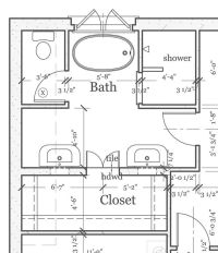 master bathroom layout plan with bathtub and walk in ...