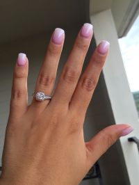 SNS nails pink and white ombre   Nails   Pinterest   Sns ...