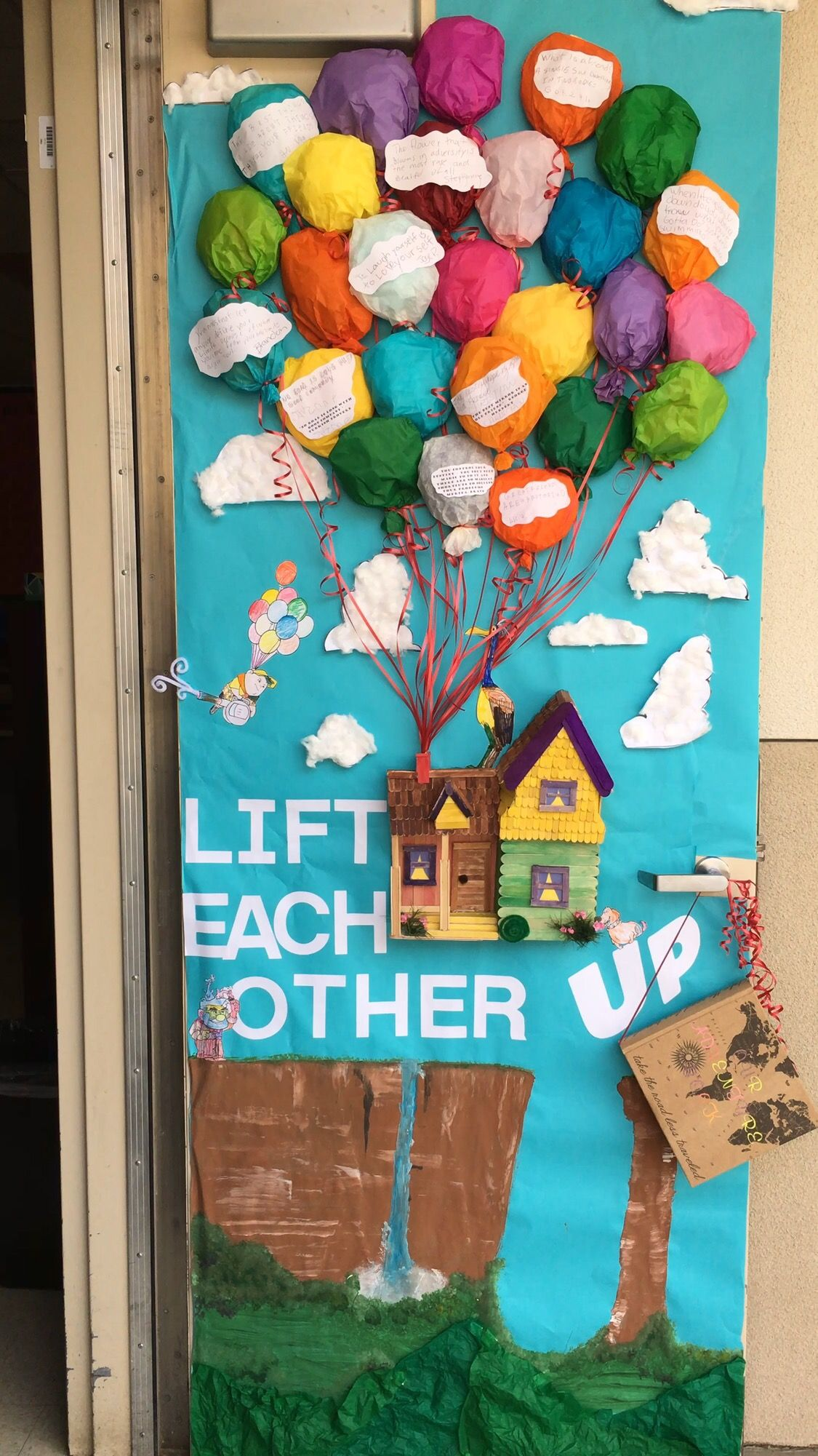 Anti Bullying Week. Door decorating competition. Up movie