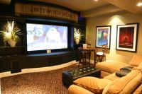 Media Room Using Basement Decorating Ideas Basement Ideas