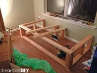 Building the frame Day bed window seat | Basement ...