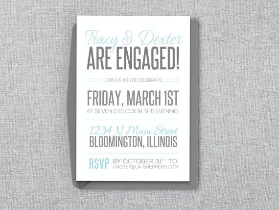Casual Engagement Party Invitation Editable MS Word by LAShepherd - how to word engagement party invitations