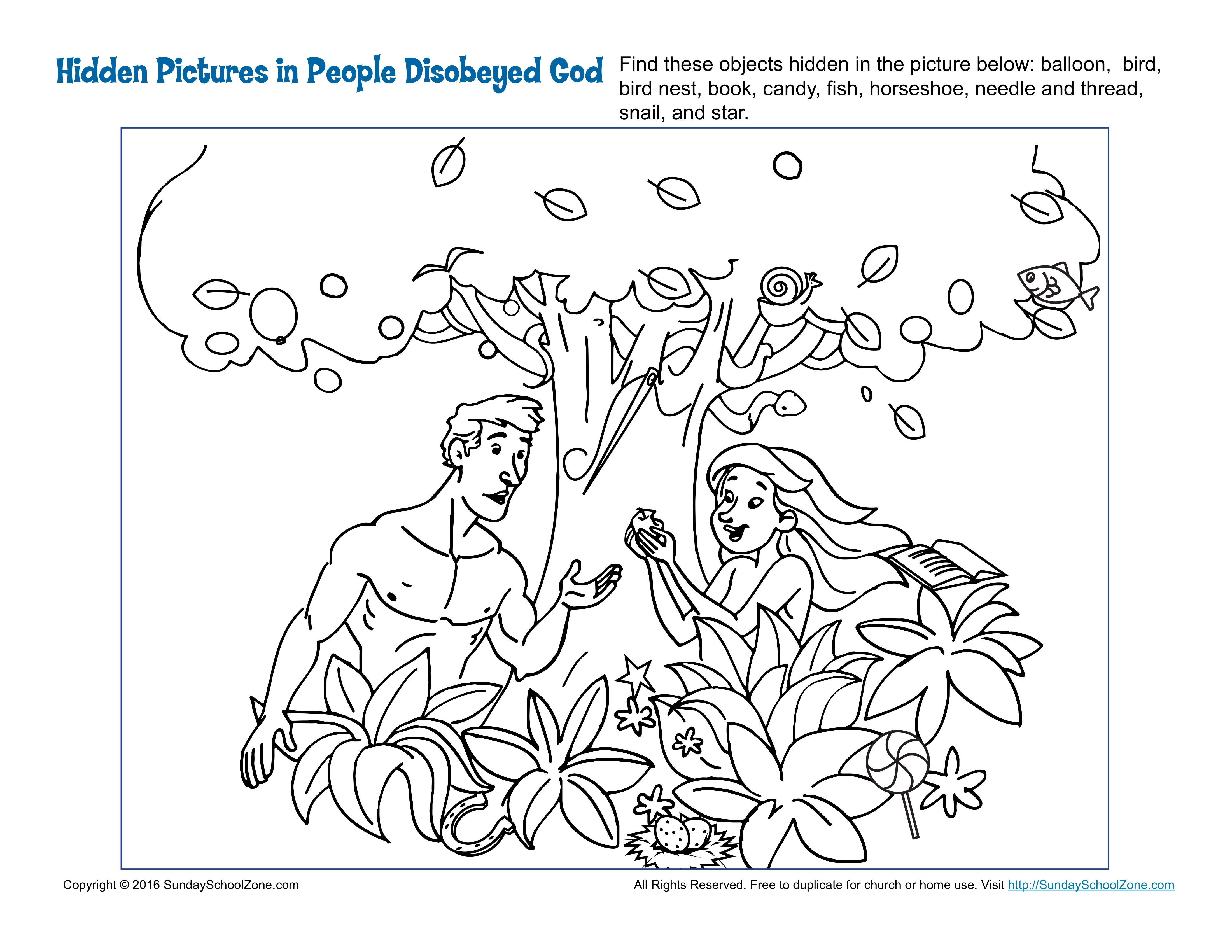 printable coloring pages adam and eve