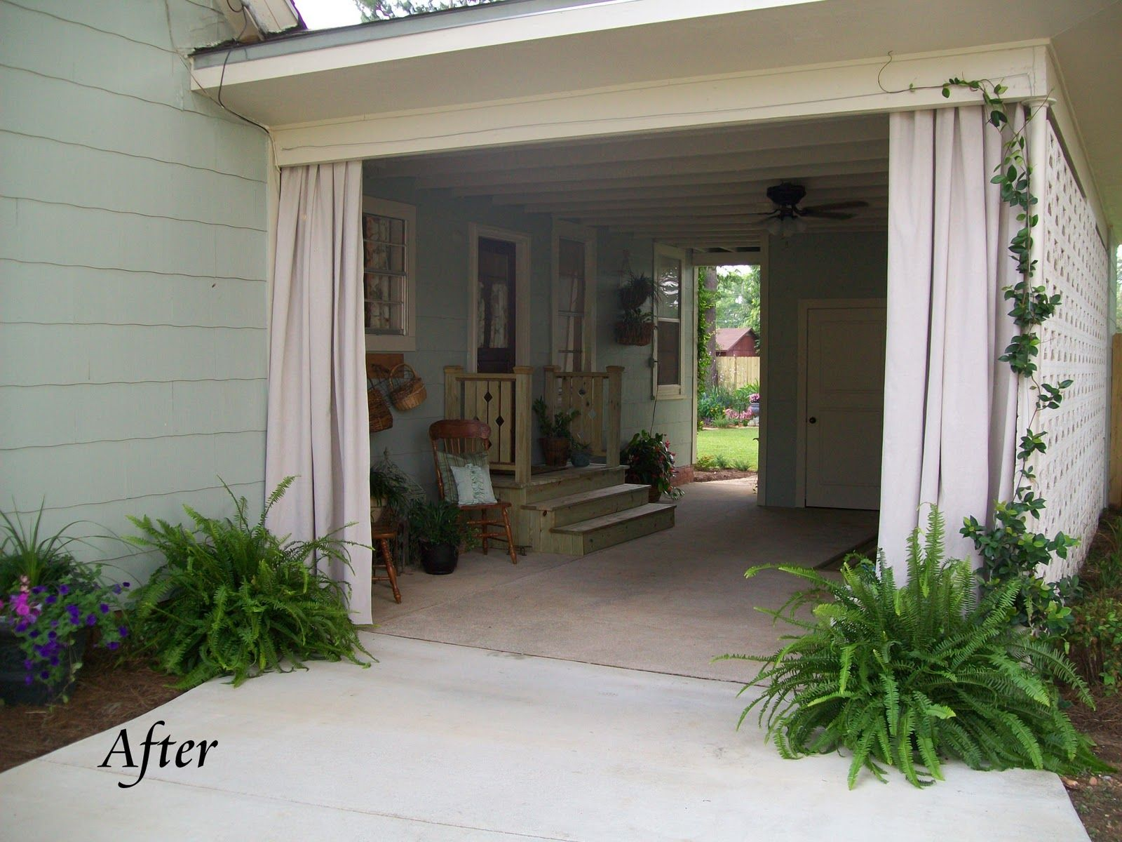 Clever use of carport turned breezy patio
