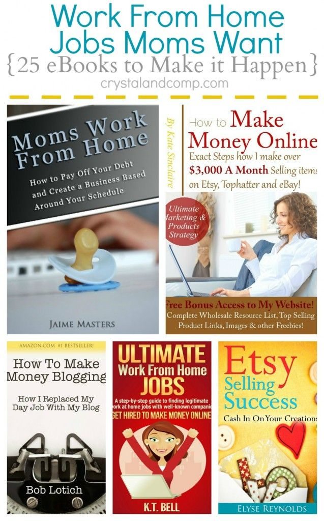 27 Work at Home Mom Job and eBooks to Teach You How Business - home based business ideas for moms