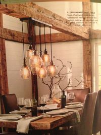 Love the rustic table and beamwork. #Kitchen #Remodel ...