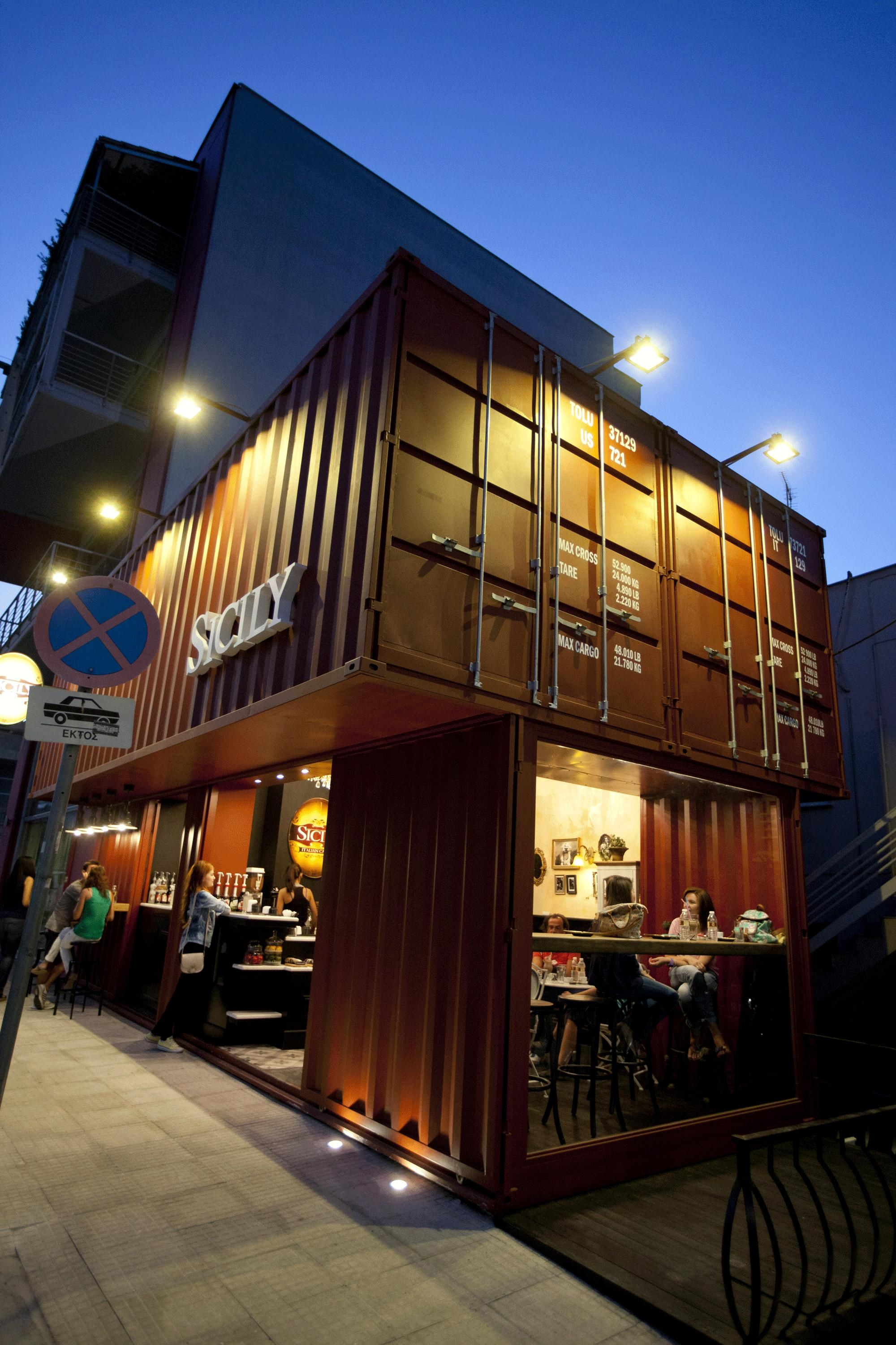 Container Haus Irland Sicily Container Coffee Shop Eat Work 43 Shop By Design