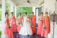 pale aqua and coral bridesmaid dress   Prom Dresses Uk ...