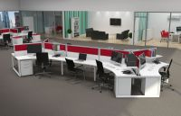 contemporary multiple office workstations for open space ...