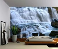 Mountain Cliff Waterfall - Large Wall Mural, Self-adhesive ...