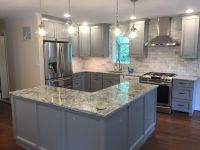 Bright Blue Grey Kitchen created with Baltic Bay ...