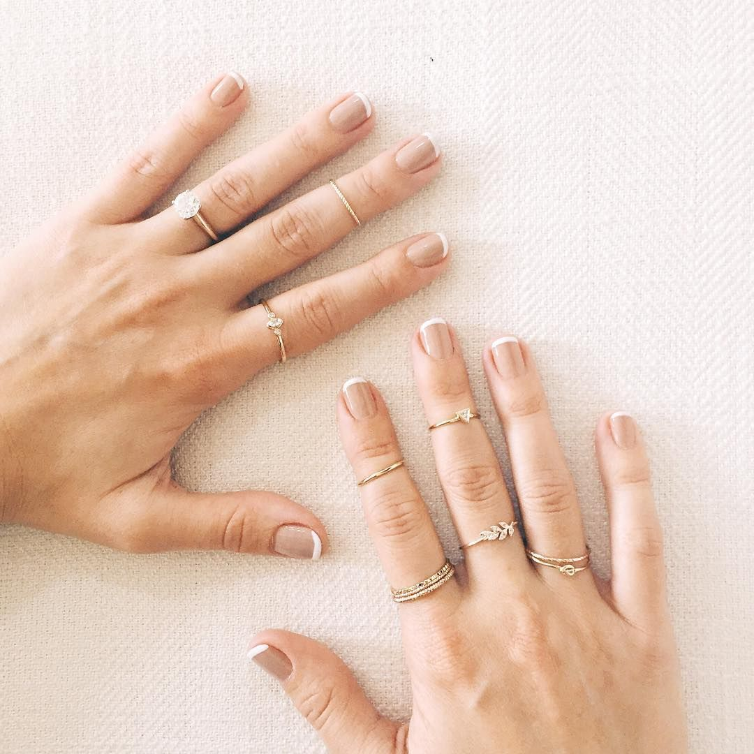 kohl's wedding rings Lauren Conrad s nude french manicure by Olive June